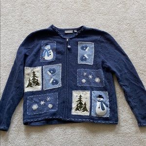 Sweaters - blue christmas sweater